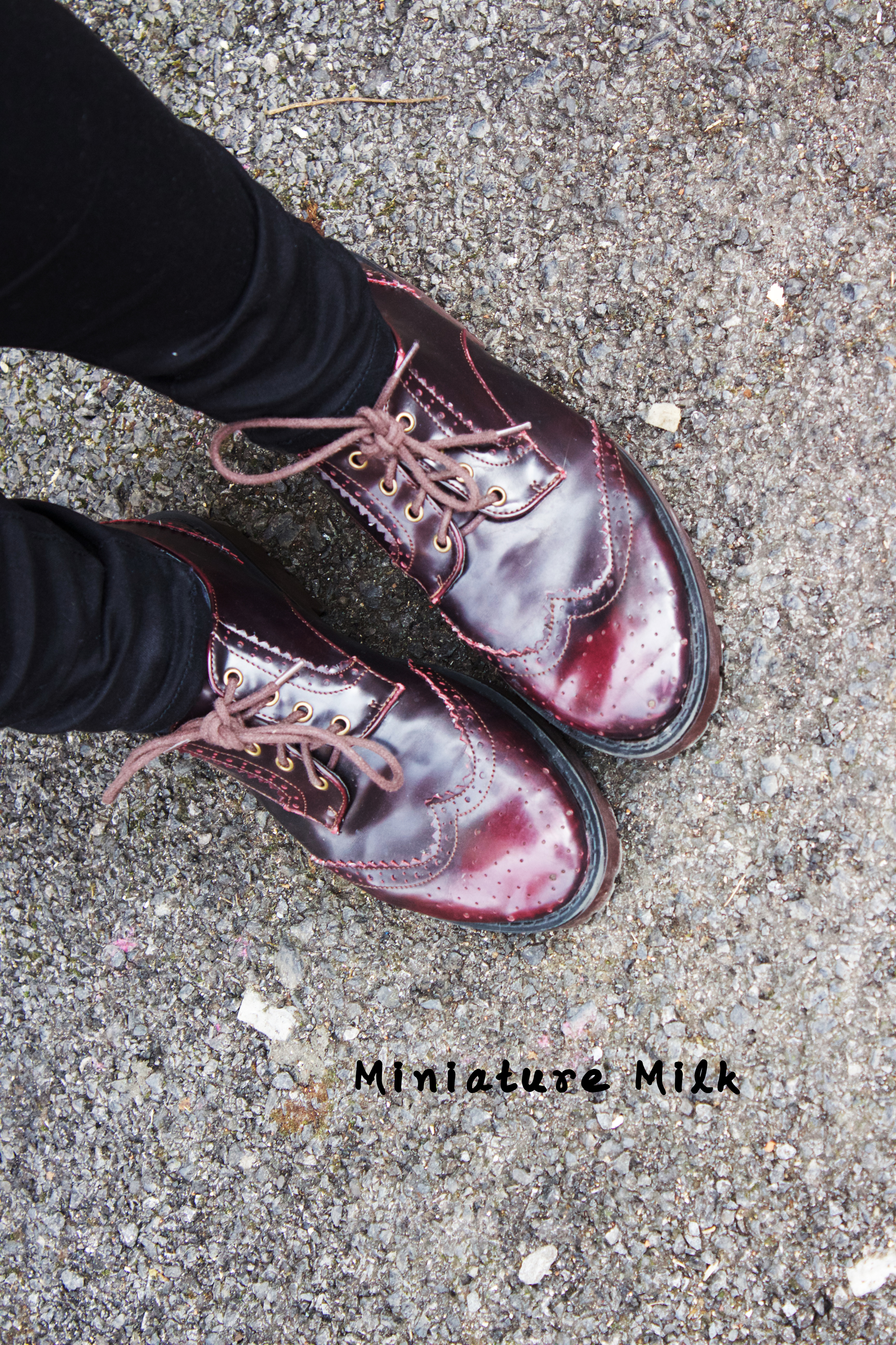 Burgundy Brogues